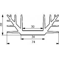 Radiator A4240 L-3cm --16497