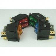 Przełącznik podśw.podwójny 12V różne kolory