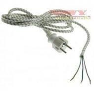 Kabel zasil. sieciowy 3x0.75 2,4 KF-CR5-H03RT-F 2.4m  do żelazka