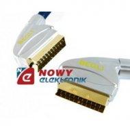 Kabel SCART-SCART 21p 120' 0,6m BEGLI-PROFI  Profesional