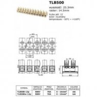Listwa zacisk. TLB500W-12P term 41A,500V,4-10mm