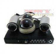 Zestaw monitoringu CABLETECH BK Rejestrator + 4 kamery