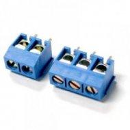 Listwa ARK DG301-5.0-3P12 kątowa r-5 3pin niebieska