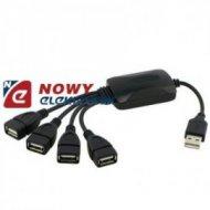 HUB USB*4 2.0 4portowy Powielacz gniazd USB