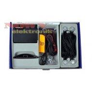 Czujnik Cofania Y2616 N-04 4cz.S srebrne /odczyt cyfr+2 lin LED