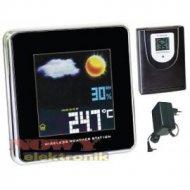 Stacja METEO W 237-3 + czujnik kolor /zegar DCF77/ do 3 czujn.