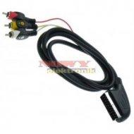 Kabel SCART-3*RCA 3m łezka