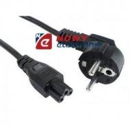 Kabel zasil. laptop 0,8-1m  230V (kończynka do zasilaczy) komp.