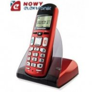 Telefon SagemCom D27T Metalic RED+ bezprzewodowy DECT/GAP