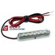 Lampa LED SMK-6SMD G 12V zielona