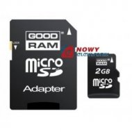 Karta pamięci microSD 2G Goodram 2GB + adapter SD