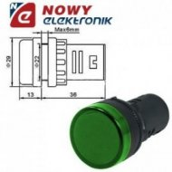 Kontrolka LED 24V zielona 22mm AD58D-024  24V AC/DC