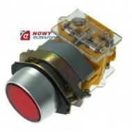 Przycisk LAS0A1Y11R chwilowy czerwony IP67 22mm