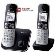 Telefon Panasonic KX-TG6812PDB(- DUO czarny Bezprzewodowy