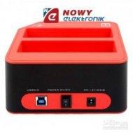 Stacja dokująca HDD 2,5/3,5 DUAL USB 3.0 SATA UNITEK Y-3022