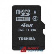 Karta pamięci micro SDHC 4GB TOS TOSHIBA Class 4