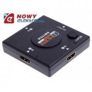 Przełącznik HDMI 1x3 FULL HD 3w1 Switch