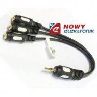 Rozgałęźnik wt.3,5/3gn.3,5mm kab z przewodem VITALCO JR18  ADAPTER