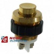 Przycisk dzwonkowy mosiądz 18mm na napięcie bezpieczne (pod otw.15mm)