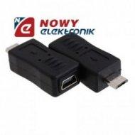 Przejście miniUSB/mikro USB ekonomic