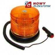 """Lampa """"KOGUT"""" 12V/24V pomarańcz. LED samochodowa  magnetyczna."""