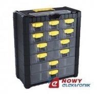 Szafka plastikowa 12 szufladek NS601 na ścianę lub przenośna