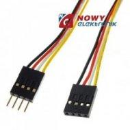 Kabel do płytek styk.4p m/ż 20cm połączeniowe  męsko-żeński BLS