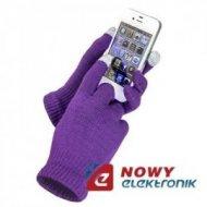 Rękawiczki do ekranów dotykowych fioletowe  tablet / smartfon