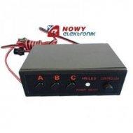 Sterownik LED stroboskop efekt 12V 1A 2-kanały, trzy programy
