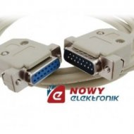 Kabel DB15M-DB15F 3m 2-rzędow.