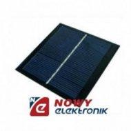 Bateria słoneczna 0,6W 5,5V OS7 65x65x3mm(solarna/ogniwo)PANEL