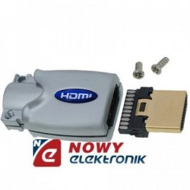 Wtyk HDMI chrome VITALCO