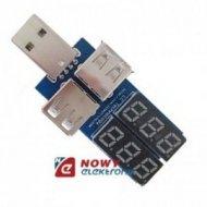 Miernik napięcia i prądu z USB 2 TESTER 2 wyświetlacze bez obudowy
