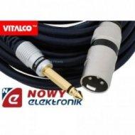 Kabel Jack 6,3m.wt.-wt.XLR 7,5m mono/kabel mikrof. MK34 Vitalco