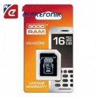 Karta pamięci micro SDHC 16GB Go Class 4 / Goodram  z adapt. SD