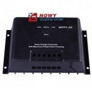 Kontroler solarny MPTT-20 12/24V 20A  ładowania regulator
