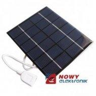Bateria słoneczna 0,6W 5,5V USB 65x65x3mm(solarna/ogniwo)PANEL