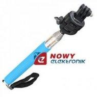 Monopod wysięgnik Blue na Gwint 1/4 typ B GP55 do GoPro/aparat/uchwyt