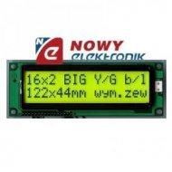 Matryca LCD ABCO16002C35YHYR04 podświetlana Green 2x16