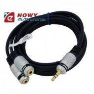 Kabel jack 3,5st wt/2gn.3,5 st 1,5m