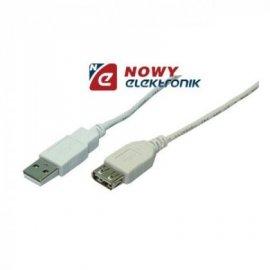 Kabel USB 2.0 Wt.A/gn.A 0,2m przedłużka