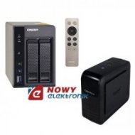 QNAP zestaw TS-253A-4G+CyberPowe DX650 serwer plików NAS+UPS