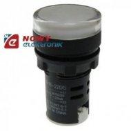 Kontrolka LED 24V biała     22mm AD16