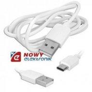 Kabel USB Wt.A-USB-C biały premium USBC wtyk-wtyk