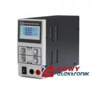 Zasilacz lab. PS3003SM 0-30V 3A impulsowy z wyśw. LCD