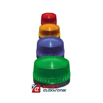 Sygnalizator bł. LED 12V DC czer IP44 czerwony błyskowy  okrąg.