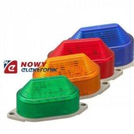 Sygnalizator bł. LED 24V DC czer IP44 czerwony błyskowy  owalny