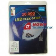 Taśma LED ZESTAW 3528 Bia.zi. 5m 300LED + zasilacz (biały zimny)
