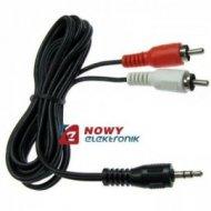 Kabel jack 3,5st-2*RCA 1,5m