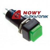 Przełącznik kwadr. off-(on) ziel plastik 80B
